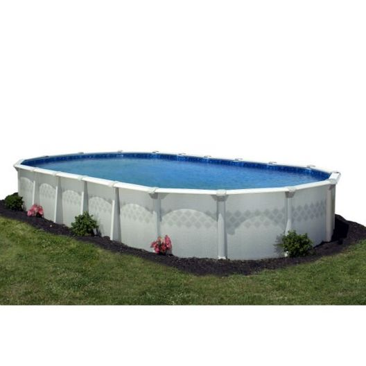 """12' x 24' Oval Above Ground Pool Package With 52"""" Wall"""