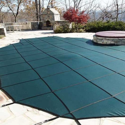 Leslie's - Pro SunBlocker Mesh 16' x 38' Rectangle Safety Cover, Green - 526106