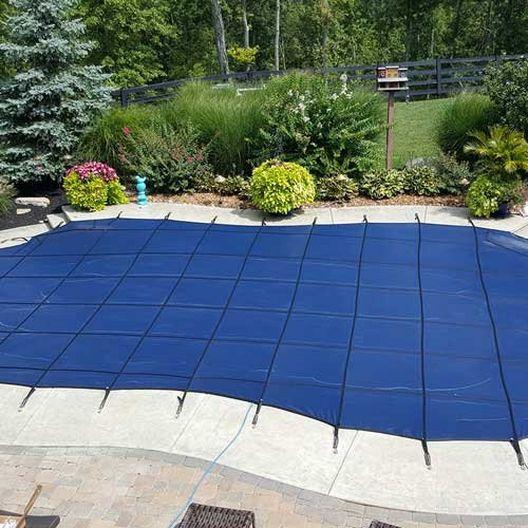 Pro SunBlocker Mesh 16' x 34' Rectangle Safety Cover, Blue