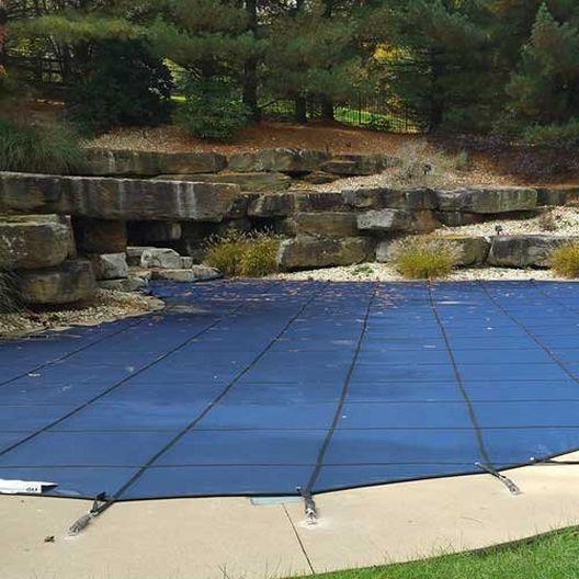 Pro SunBlocker Mesh 16' x 36' Rectangle Safety Cover, Blue