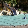 Pro Supreme Solid 16' x 38' Rectangle Safety Cover with Kleen Screen Drain, Green