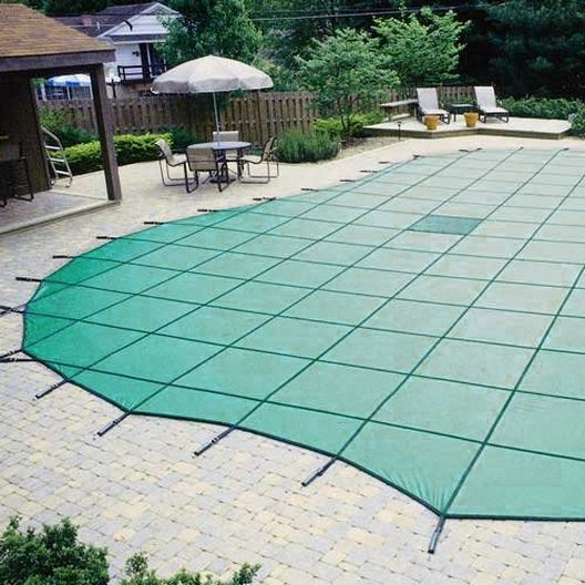 Pro Solid 14' x 28' Rectangle Safety Cover, Green