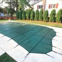 Pro Solid 18' x 36' Rectangle Safety Cover with 4' x 8' Center End Step, Green