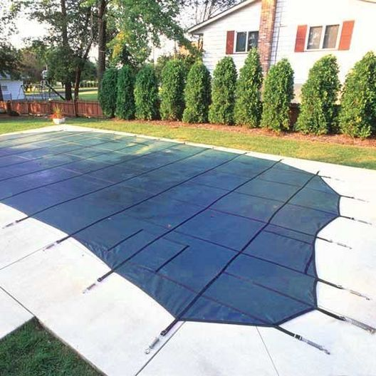 Pro Solid 14' x 28' Rectangle Safety Cover Blue