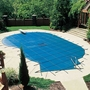 Pro Solid 16' x 36' Rectangle Safety Cover with 4' x 8' Center End Step, Blue