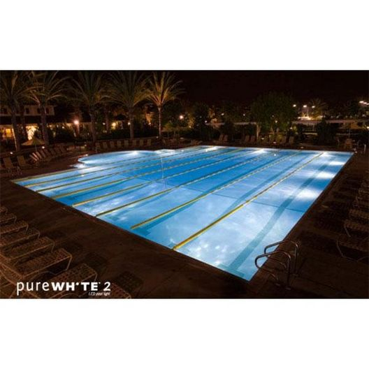 J&J Electronics - PureWhite 2 LED 120V, 7W White LED Pool and Spa Light Fixture - 54112