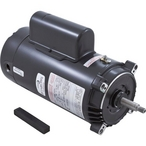 56J C-Face 1 HP Single Speed Full Rated Pool Filter Motor, 13.6/6.8A 115/230V