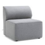 Mobilite Outdoor Armless Chair, Cast Slate