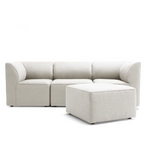 Mobilite 4-Piece Outdoor Sectional, Cast Silver