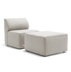 Mobilite 2-Piece Outdoor Seating Set, Cast Silver