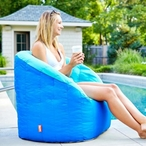 Big Joe - Outdoor Lumin Chair, Aqua and Sapphire - 551723