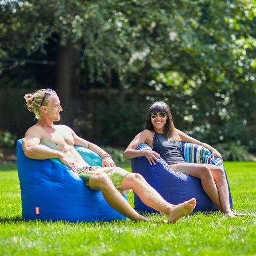 Outdoor Lumin Chair, Aqua and Sapphire