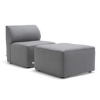 Mobilite 2-Piece Outdoor Seating Set, Cast Slate
