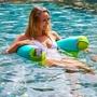 Aqua and Lime Pool Float