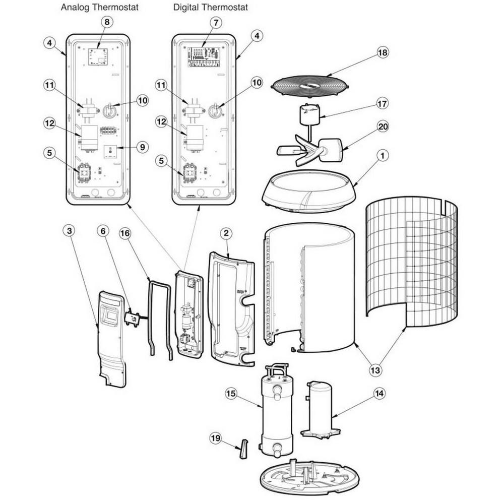 Hayward HeatPro Heat Pump HP11002, HP21002, HP2100TCO2, HP21002C, HP6002 image