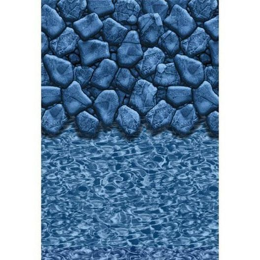 Swimline - Beaded 15' x 24' Oval Boulder Swirl Above Ground Pool Liner, 20 Mil - 500506