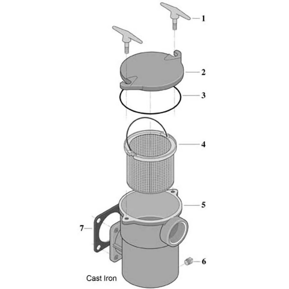 Sta-Rite Cast Iron Pump Hair & Lint Pot Pump image