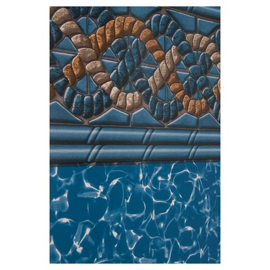 Unibead 30' Round All Swirl and Mystri Gold 54 in. Depth Above Ground Pool Liner, 20 Mil