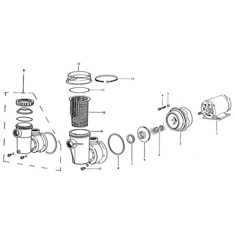 Jacuzzi LH & LTH Series Pump image