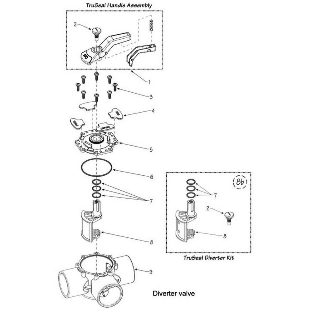 Waterway Ball & Diverter Valves Truseal Diverter Valve image