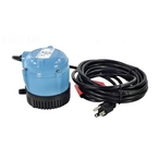 Little Giant - 1-AA-18 Submersible Cover Pump with 18-Feet Cord, 170 GPH - 601301