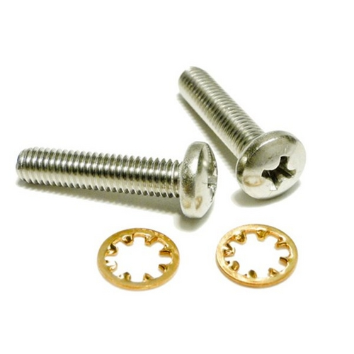 """Polaris - 10-32 x 7/8"""" SS Pan Head Screw with Star Washer for 3900"""