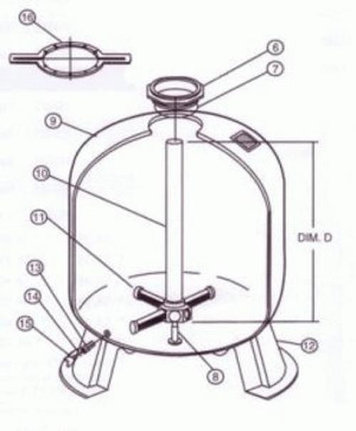 Pentair - Filter Tank with Foot Ta40D