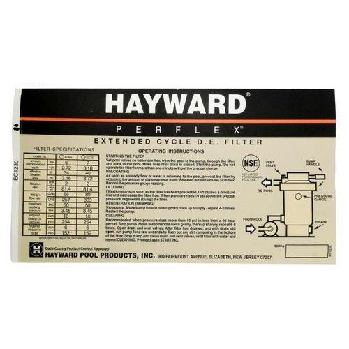 Hayward - Decal
