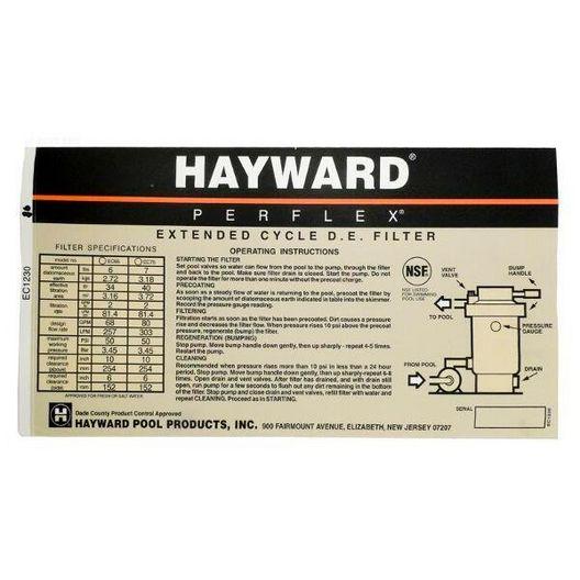 Hayward - Decal - 603161