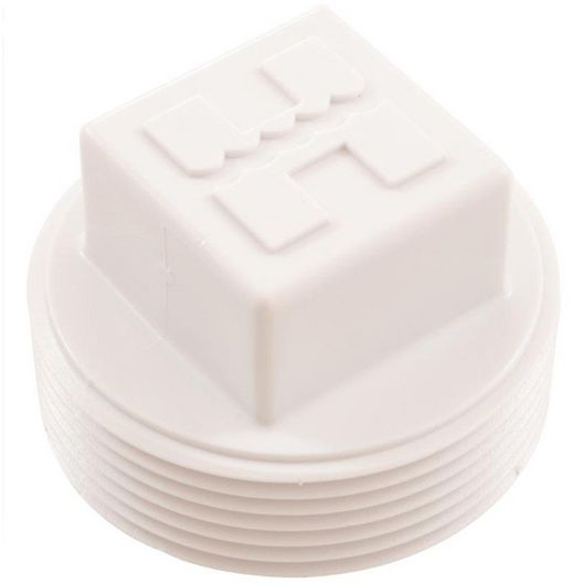 1-1/2in. MPT Plastic Pipe Plug, Square Head