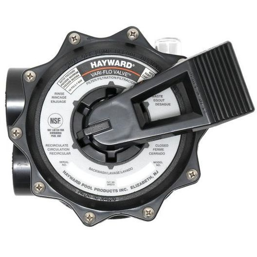 "Hayward - SP071621 Multiport Vari-Flo Control 2"" FIP Valve Top Mount, Black - 603422"