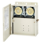 Intermatic - Two 220 Time Clocks in Raintight Box - 603453