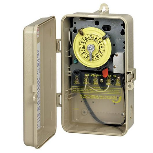208/277V Timer with Heater Delay Plastic Outdoor Enclosure