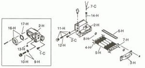 Raypak - Heat Exchanger F/L-100, Complete