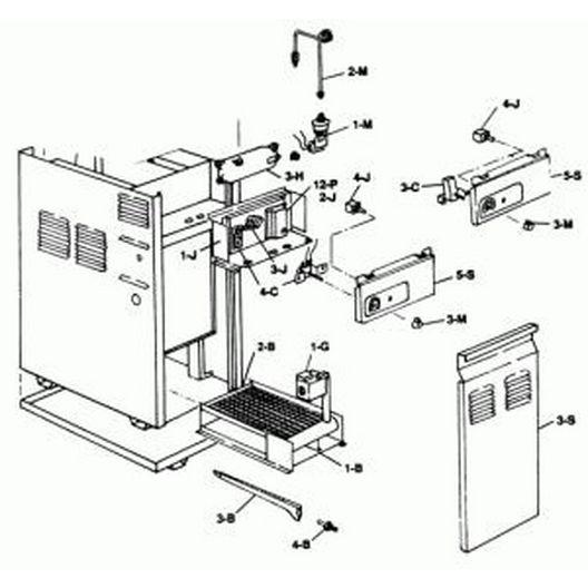 Raypak  Control Box Lid Propane No Thermostat