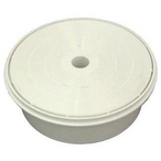 C Skimmer Cover, 6in. Diameter, with Ring, White