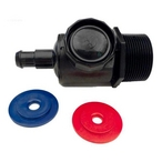280/380 Pool Cleaner Universal Wall Fitting Connector Assembly, Black