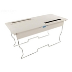 Square Wire Frame Bottom Lid Assembly, White