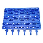 Brush, Blue Molded Rubber, Pair