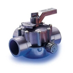 Jandy - Gray Three Port Valve 1 1/2in.-2in. Non-Positive Seal - 607911