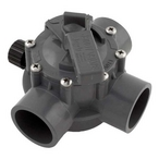 Jandy - Gray Three Port Valve 1 1/2in.-2in. Positive Seal - 608002