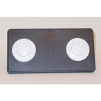 Air Button Deckplate 15 Classic Touch 2 Button Panel Black