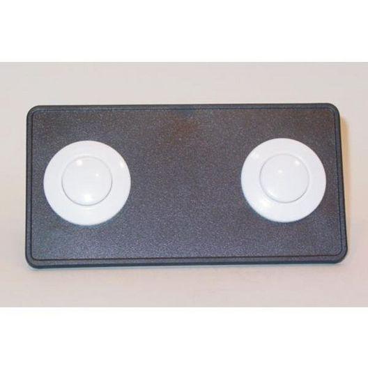 Len Gordon  Air Button Deckplate 15 Classic Touch 2 Button Panel Black
