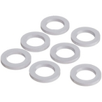 Washer, 5/8in. OD, 3/8in. ID, 1/16in. , Plastic (Set of 8)