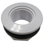 Fiberglass and Above Ground Inlet, White, Wtih Butterfly Gasket