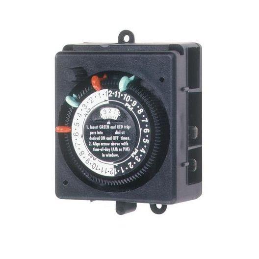 Intermatic - Timer, SPST-125V 24Hr Mechanical 2 On/Off - 613202