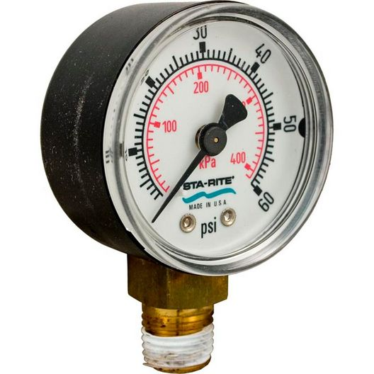Gauge, Pressure 1/4in. Bottom Connection NPT OEM 0-60 PSI 2in. Face