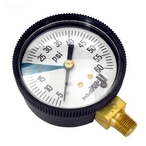 Zodiac - Gauge, Pressure 1/8in. Bottom Connection NPT 0-60 PSI 2in. Face Jandy OEM - 614151