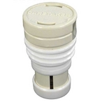 Caretaker Pop Up High Flow Threaded Head, Light Cream