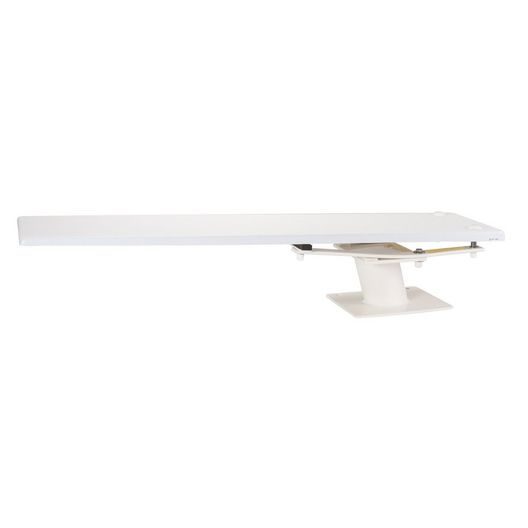 6' Frontier III Diving Board with Cantilever Stand, Radiant White